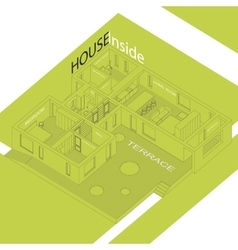 House inside vector
