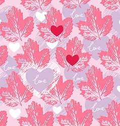 Love seamless pattern decorative background vector image vector image