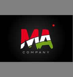 Ma m a alphabet letter logo combination icon vector