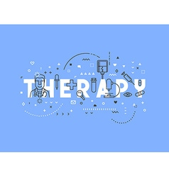 Medicine concept design therapy vector