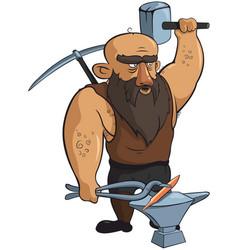 medieval blacksmith vector image