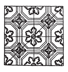 Medieval enamel pattern is a ceramic decal vector