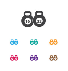 Of active symbol on kettlebell vector