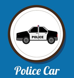 police car design vector image