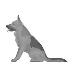 police dog for detaining criminals trained vector image vector image