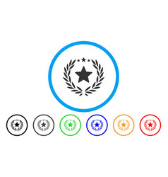 proud emblem rounded icon vector image