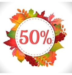 Sale Discount fifty percent vector image