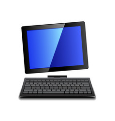 tablet computer with keyboard isolated vector image