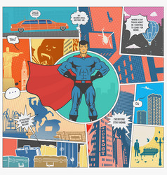 the page comics layout concept vector image vector image
