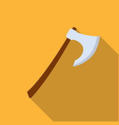 Viking battle-axe icon in flate style isolated on vector