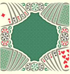 Vintage poker table vector
