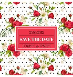 Wedding invitation or congratulation card vector