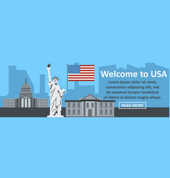 welcome to usa banner horizontal concept vector image