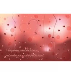 Winter card with rainy window vector