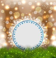 Xmas elegant card on glowing background vector