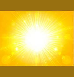 Yellow orange summer sun light burst glittering vector
