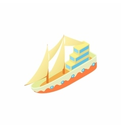 Passenger ship icon cartoon style vector