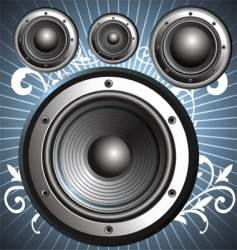 Loudspeakers speakers vector