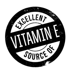 Excellent source of vitamin e stamp vector