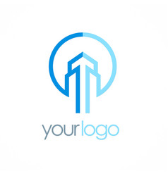 building tower logo vector image