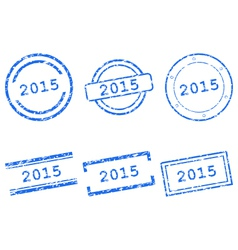 2015 stamps vector image vector image