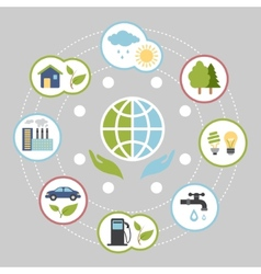 Ecologic infographic elements for web and print vector