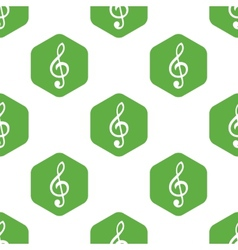 Treble clef pattern vector