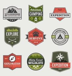 Retro Camp badges vector image