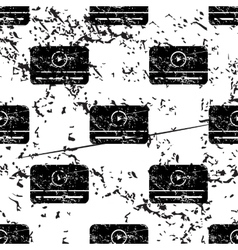 Mediaplayer window pattern grunge monochrome vector
