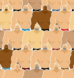 Bodybuilding competitions seamless pattern many vector