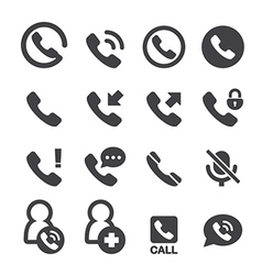 Phone and call icon vector
