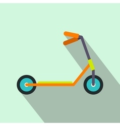 Kick scooter flat icon vector