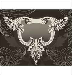ornate back vector image