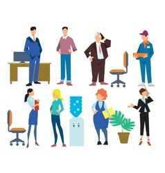 Office people isolated on white background vector