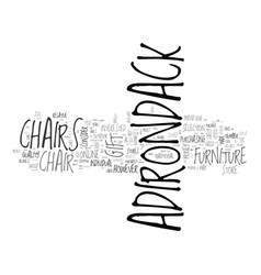 adirondack chairs a great gift idea text word vector image vector image