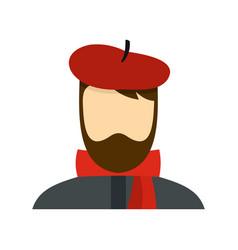 Artist icon flat style vector