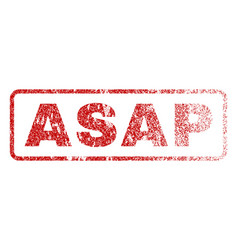 asap rubber stamp vector image