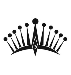 Big crown icon simple style vector