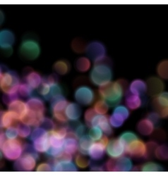 Bokeh blurred lights on dark background eps 10 vector