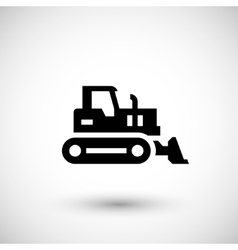 Crawler bulldozer icon vector