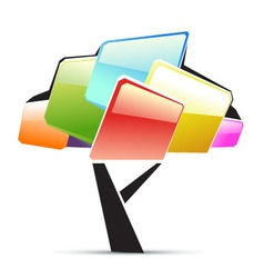 creative tree vector image vector image
