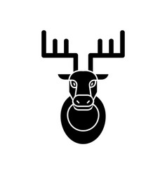 deer head icon sign o vector image vector image