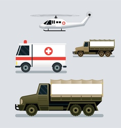 Disaster Assistance Response Vehicles Side View vector image vector image
