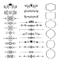 floral design elements set ornamental vintage vector image vector image