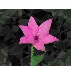 Flower poligon design vector