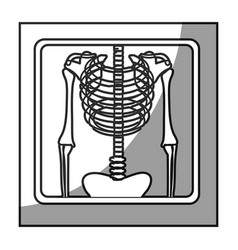 Grayscale square frame shading with chest vector