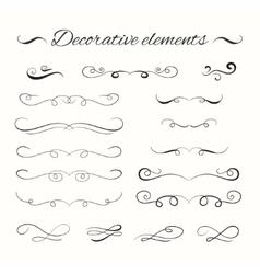 Hand drawn divders set Ornamental decorative vector image vector image