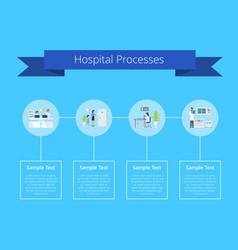 hospital processes manual vector image vector image