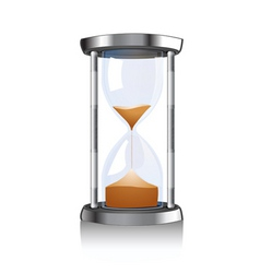 hour glass vector image