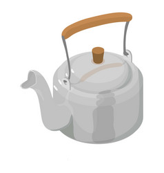 kettle metal icon isometric 3d style vector image